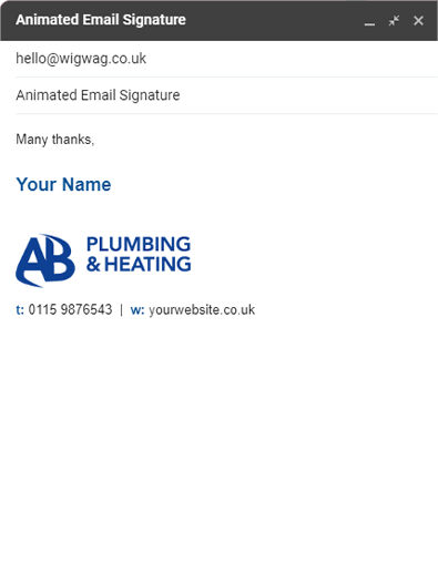 Animated email signature